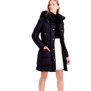J.Crew Down Wintress Belted Puffer Coat